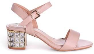 fc67d329c25 Linzi MISSY - Nude Nappa Mid Heel with Diamante Block Heel