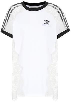 Stella McCartney Printed cotton and lace T-shirt