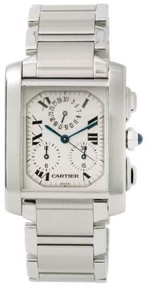 Cartier Tank 2303 Stainless Steel Quartz 32mm Mens Watch