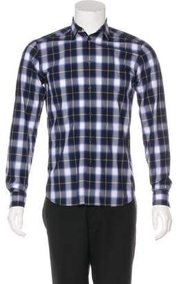 Givenchy Woven Plaid Shirt