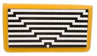 Les Petits Joueurs Janis Optical Striped Clutch