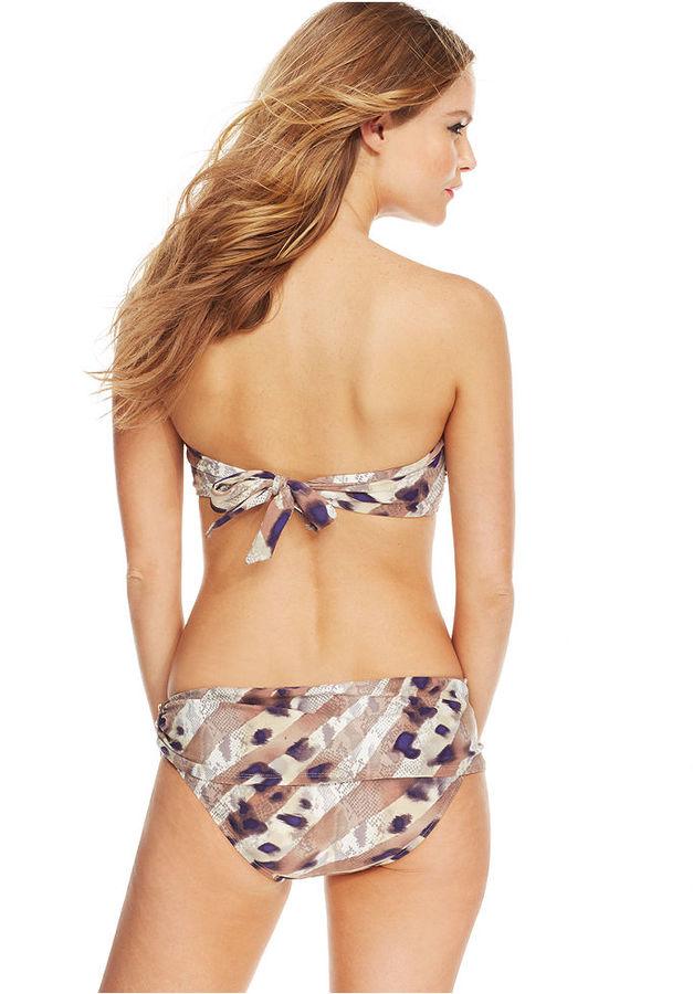 Vince Camuto Animal-Print Studded Swim Skirt