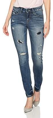 SLINK Jeans Women's Missy Joby Patched Denim Skinny Jean