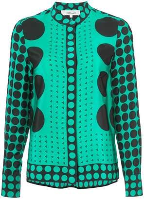 Diane von Furstenberg circle printed blouse