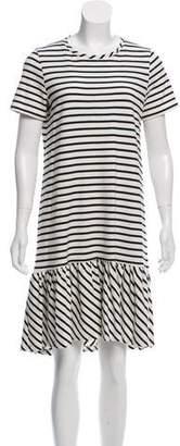 Hatch Short Sleeve Patterned Dress