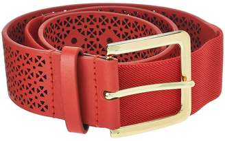 Isaac Mizrahi Live! Perforated Leather Strap Belt