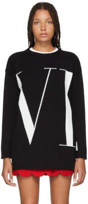 Valentino Black Cashmere Logo Sweater