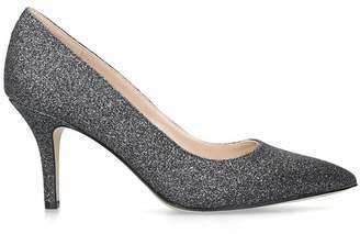 Nine West Metallic 'Flagship 75' Grey Mid Heel Court Shoes