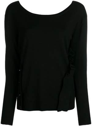 Schumacher Dorothee scoop neck ruffle sweater
