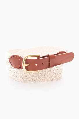 Gents Leather Man LTD. Natural Macrame Tab & Buckle Belt