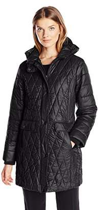 Kenneth Cole Women's Lightweight Diamond Quilted Coat $41 thestylecure.com