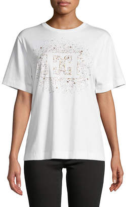 Escada Starburst Logo Crewneck Short-Sleeve Cotton Tee