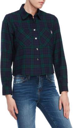 U.S. Polo Assn. Pocket Cropped Flannel Shirt