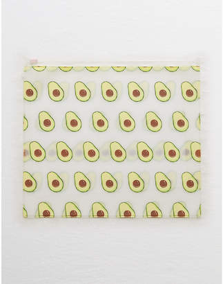 aerie Avocado Zip Cosmetic Pouch