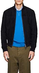 Ami Alexandre Mattiussi Men's Suede Harrington Jacket - Navy