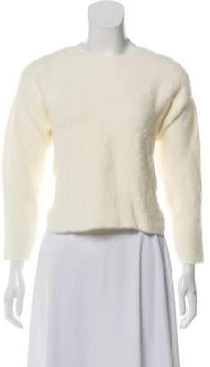 Mason by Michelle Mason Cropped Rib Knit Sweater