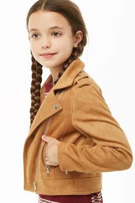Forever 21 Girls Faux Suede Moto Jacket (Kids)