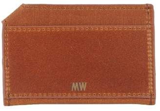 Most Wanted Design by Carlos Souza Slim Leather Card Wallet