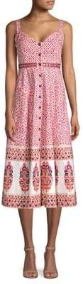 Saloni Fara Print Midi Dress