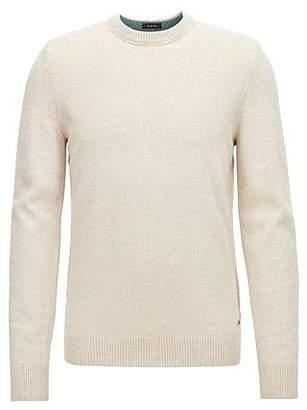 HUGO BOSS Crew-neck sweater in an Italian wool-cotton blend