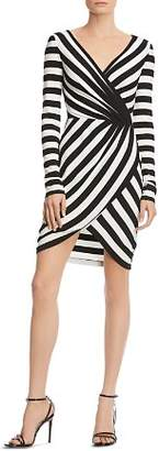 Bailey 44 Striped Faux-Wrap Dress