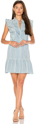 BCBGMAXAZRIA Flounce Dress in Blue $298 thestylecure.com