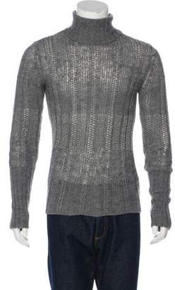 Emporio Armani Cable Knit Turtleneck Sweater