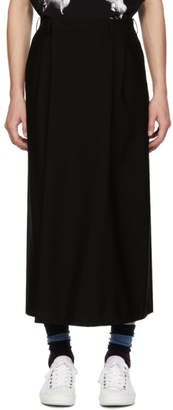 Lad Musician Black 2-Tuck Wide Cropped Trousers