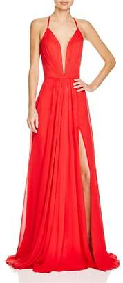 Couture Faviana Illusion Plunge Gown