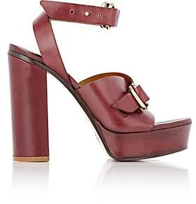 Chloé Women's Kingsley Leather Platform Sandals-Bordeaux