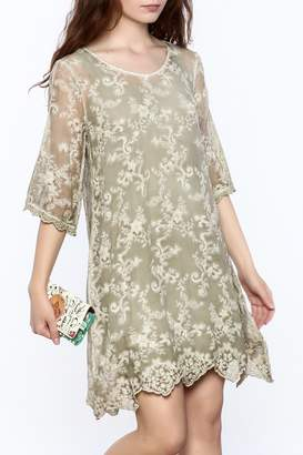 Gretty Zuegar Green Silk Tunic Dress