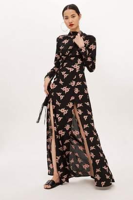 Flynn Skye bridal Floral Split Maxi Dress by
