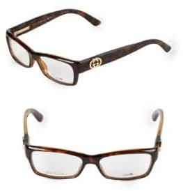 Gucci 51MM Rectangle Optical Glasses