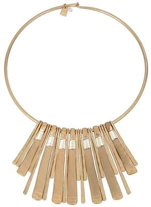 """Robert Lee Morris Soho Two-Tone Wire Wrap Necklace, 16"""""""