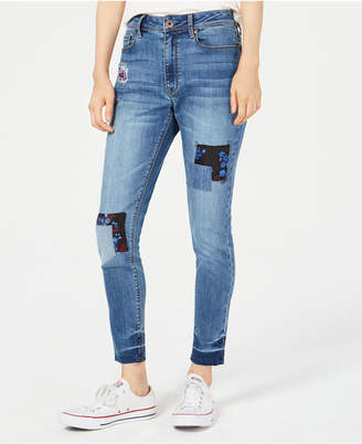 American Rag Juniors' Patchwork Skinny Jeans, Created for Macy's