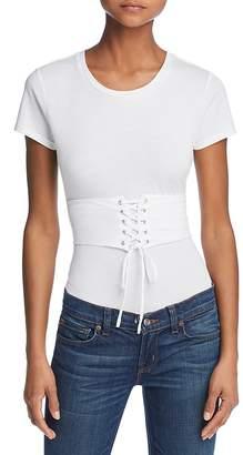 GUESS Corset Detail T-Shirt-Style Bodysuit