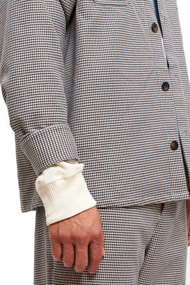 Opening Ceremony Houndstooth Thermal Lined Work Shirt