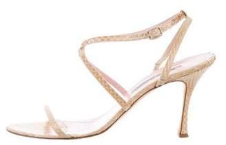 Manolo Blahnik Python Crossover Sandals