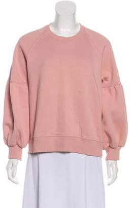 Burberry Scoop Neck Long Sleeve Sweater Pink Scoop Neck Long Sleeve Sweater