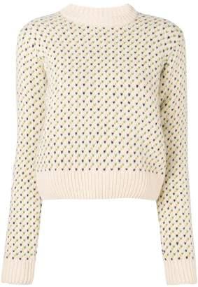 YMC Birdseye Crew knitted sweater