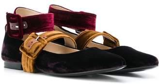 Florens TEEN buckle strap ballerinas