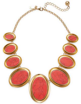 Kate Spade Bright & Bold 12K Plated Bib Necklace
