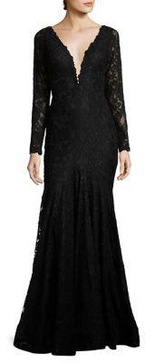Jovani Lace Trumpet Gown $570 thestylecure.com