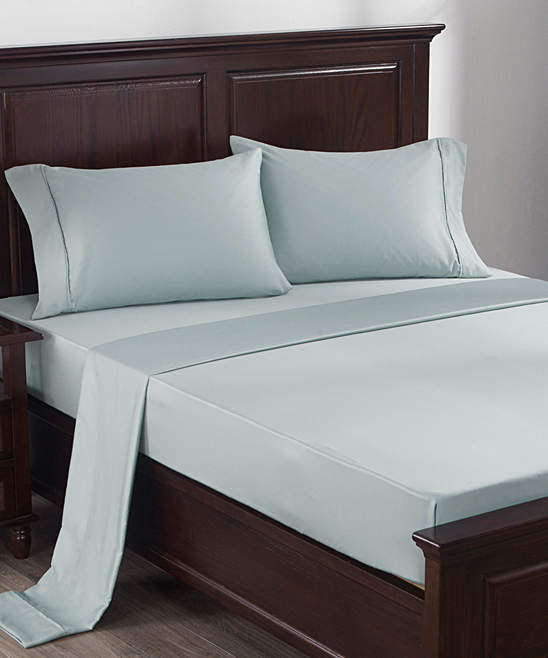 Light Blue Cotton Sheet Set
