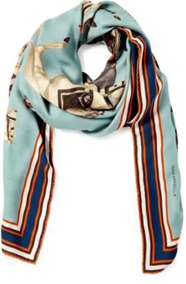 Arabella Rani Polo Printed Cashmere Scarf