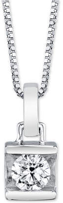"Macy's Diamond Bar 18"" Pendant Necklace (1/2 ct. t.w.)"