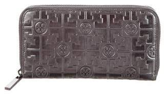 Tory Burch Embossed Lux T Continental Wallet