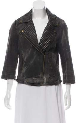 Current/Elliott Studded Biker Jacket