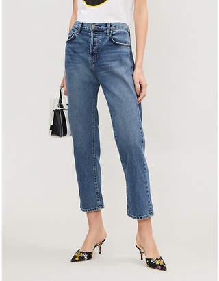 Current/Elliott The Original Straight slim-fit high-rise jeans