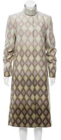 Chloé Chloé Printed Wool Coat w/ Tags
